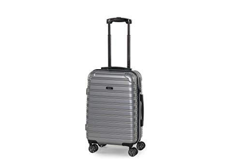 Rock Chicago 56cm Cabin Size Hardshell Suitcase Silver