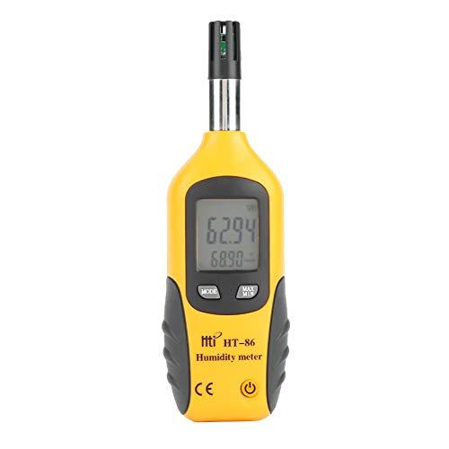 Termometro Digitale, Akozon Termometro Digitale Ambiente Igrometro con Bulbo Umido/Indicatore di Temperatura del Punto di Rugiada Indicatore di Umidità Misuratore di Umidità di Temperatura