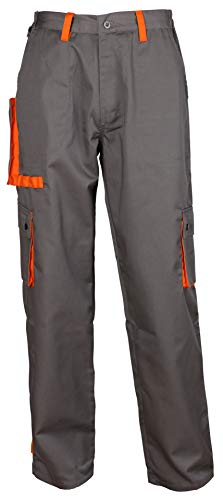 Stenso Desman - Herren Arbeitshose Bundhose/Cargohose - Grau/Orange EU52