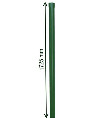 Zaunpfosten 34 mm grün Zaunpfahl Pfosten für 1,5m Metallzaun Schweißgitter RAL 6005