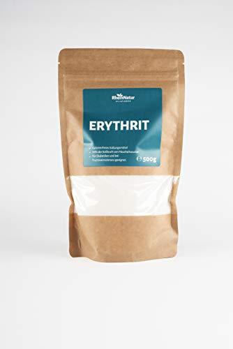 Rheinnatur Erythrit kalorienfreier Zuckerersatz, light, mit 70% der Süßkraft von Zucker, vegan und glutenfrei | 500 g