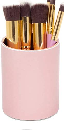 Nipole Pen Pencil Container Holder Office Desk Accessories Container Storage Box Aluminum Rose product image