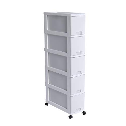 TXXM manufacture Cajonera de almacenamiento con costuras para armarios de almacenamiento, cajones, armarios de baño, cocina (color: blanco, tamaño: 5 capas)