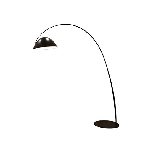 MFLASMF Lámpara Alta Lámpara de pie Moderna Lámpara de pie Negra Lámpara de pie con Pantalla de Hierro Colgante para Sala de Estar, Dormitorio, lámpara de pie de Oficina (Color: Negro, Tam