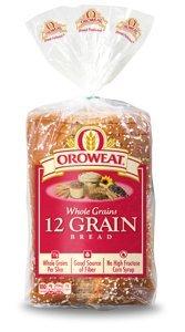 Oroweat Sliced Bread 24oz Loaf (Pack of 2) Choose Flavor Below (Whole Grains - 12 Grain)