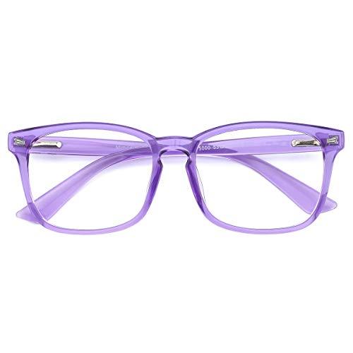 Mimoeye 2 Pack 1 Pack Oversized Blue Light Blocking Glasses Anti Eyestrain Work Gaming TV Glasses for Women and Men(1 piece)