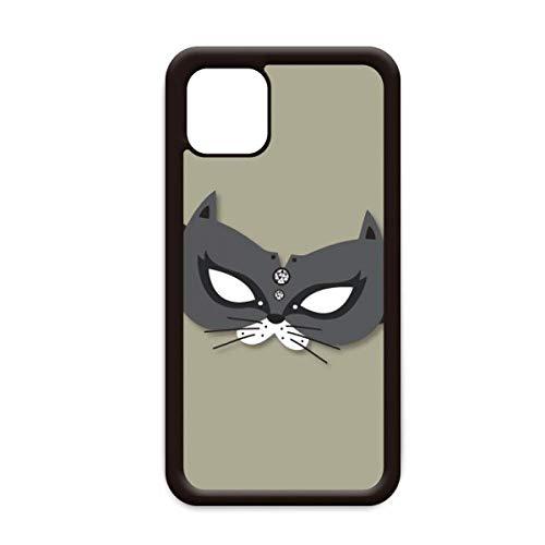Zwarte kat masker gelukkig carnaval van Venetië voor Apple iPhone 11 Pro Max Cover Apple mobiele telefoonhoesje Shell, for iPhone11 Pro Max