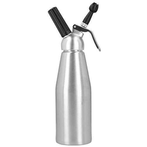 Omabeta con 3 boquillas de decoración Botella de sifón de Tanque de Gas de Lujo Botella de Crema para panadería para Postre(Aluminum Model 1000ML)