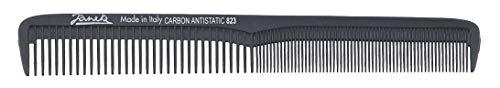 Jäneke Haarschneidekamm 55823 Carbon-Kamm ca. 18 cm (antistatisch) Haarkamm feine und weite Zahnung (823)
