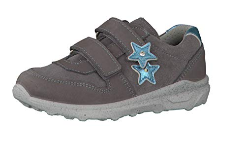 RICOSTA Mädchen Sneaker Tira 6620100, Kinder Low-Top Sneaker,Halbschuh,Sportschuh,Klettschuh, Klett-Verschluss,Graphit,33 EU