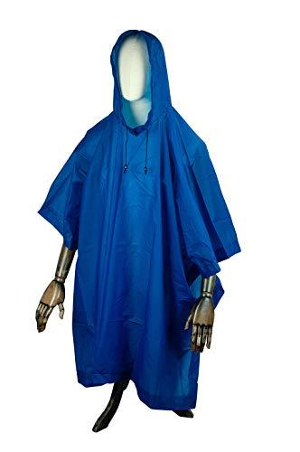 Gravidus Regenponcho Blau/Unisex - Regenschutz mit Druckknöpfe & Kapuze   Wandern, und weitere Outdoor Aktivitäten