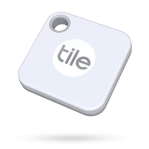 Tile Mate (2020) Lot de 1 localisateurs d'article Bluetooth, Blanc. Portée de 60 m, 1 an d'autonomie de la pile remplaçable, fonctionne avec Alexa et Google Home. Compatible avec iOS et Android