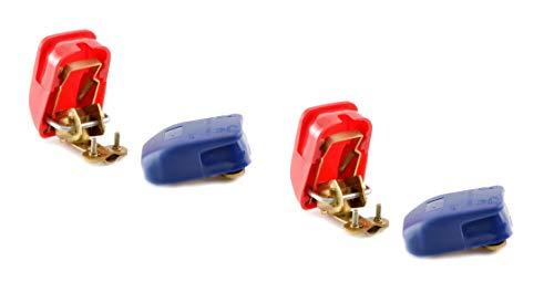 wellenshop 2X 1 Paar Batterieklemme Set Plus Minus Batterie-Polklemmen Batterieschnellverschluss Schnellklemmen Boot KFZ