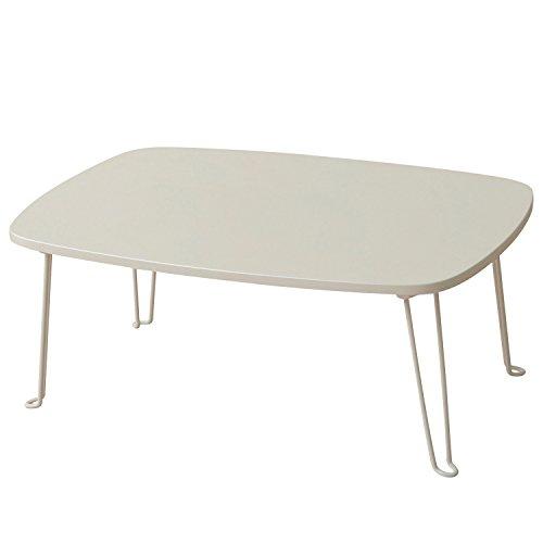 山善(YAMAZEN) 折りたたみローテーブル(75×50) ホワイト PML-7550(WH)