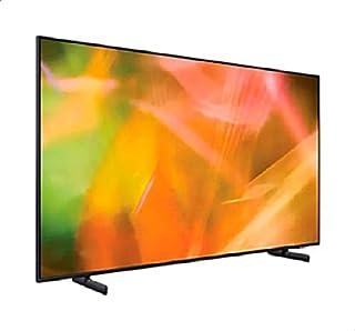 تليفزيون سمارت مسطح الترا اتش دي كريستال 4K 55 بوصة مع ريموت كنترول من سامسونج UA55AU8100UXEG - اسود