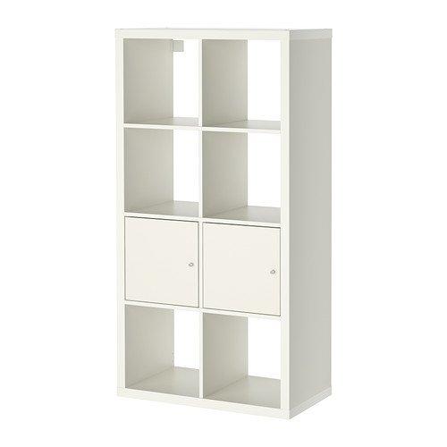 IKEA KALLAX - Rek met deuren, wit - 77x147 cm
