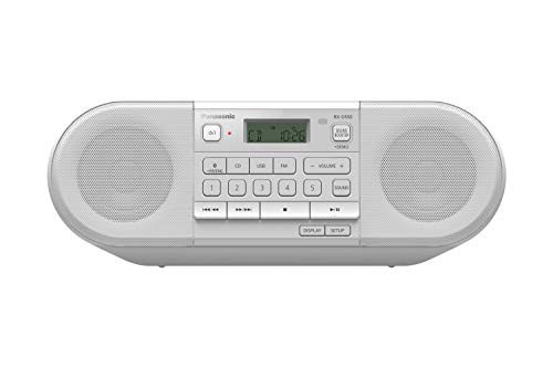 Panasonic RX-D550 Powerful, Portable & Multisource Compatible FM Radio, with Bluetooth, USB, CD, 20W - White