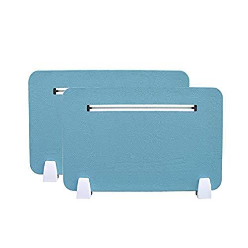 Ahmi 2 x robuste Schreibtisch-Trennwand (Wrap Planken mit Netz) 3040 x 30,9 cm, geräuschreduzierende Trennwand für Büro, Schule, Blau