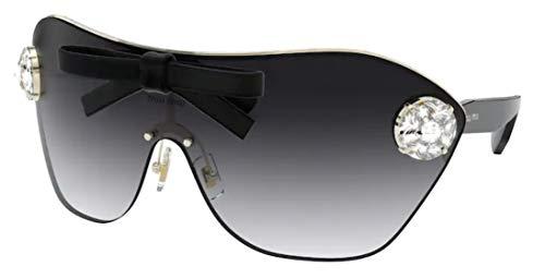 Miu Miu Sonnenbrille MU 68US SS 2019 SONDERPROJEKT 1435D1 Brille Frauenfarbe Goldlinse grau Größe 58 mm
