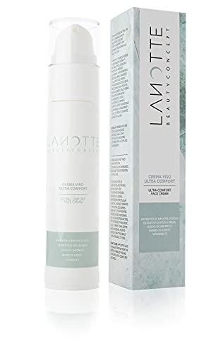 LANOTTE BEAUTY CONCEPT - Crema viso ultra comfort con acido ialuronico, Vitamina E, estratti naturali di fico d'india e bacche di goji, burro di karité