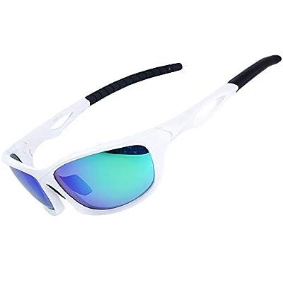 XR Unisex Polarized Sports Sunglasses for Men Women 100% UV Protection TR90 Ultra Lightweight Unbreakable Frame