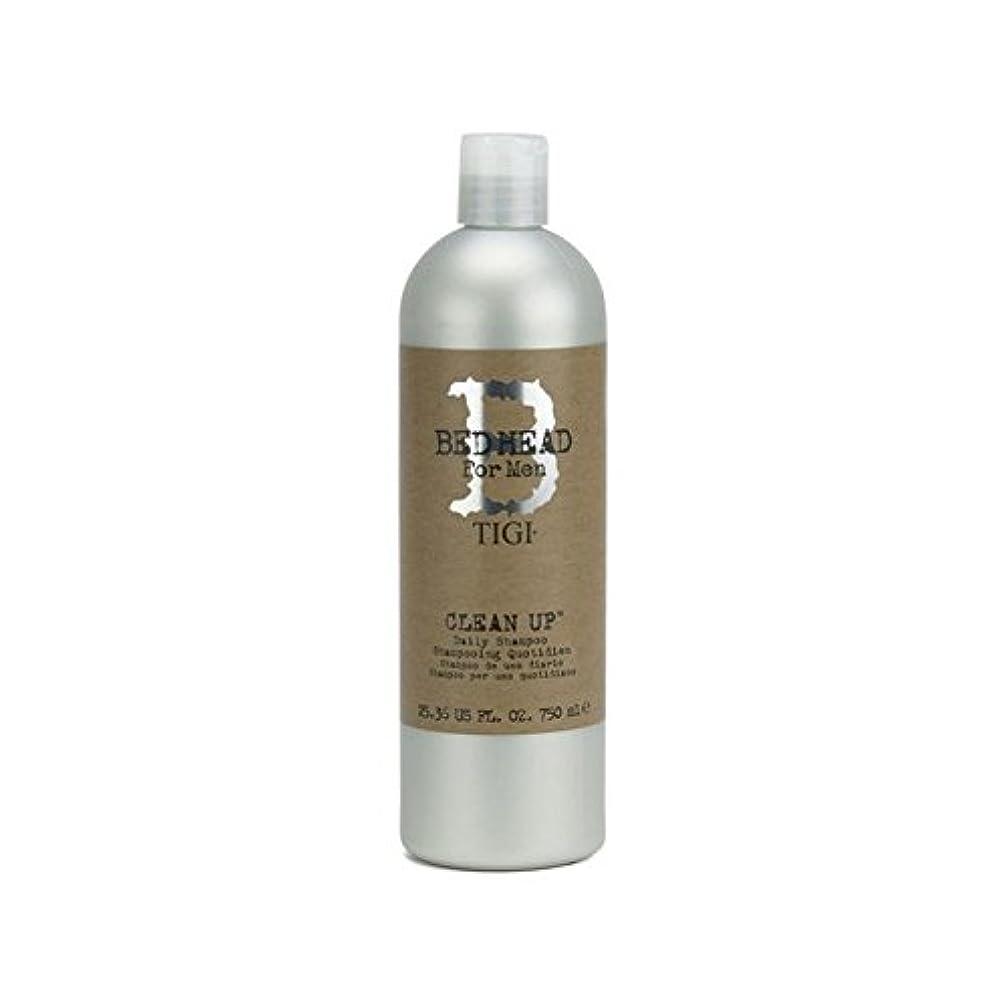 氏ブラウンあいにく毎日シャンプーをクリーンアップする男性のためのティジーベッドヘッド(750ミリリットル) x4 - Tigi Bed Head For Men Clean Up Daily Shampoo (750ml) (Pack of 4) [並行輸入品]