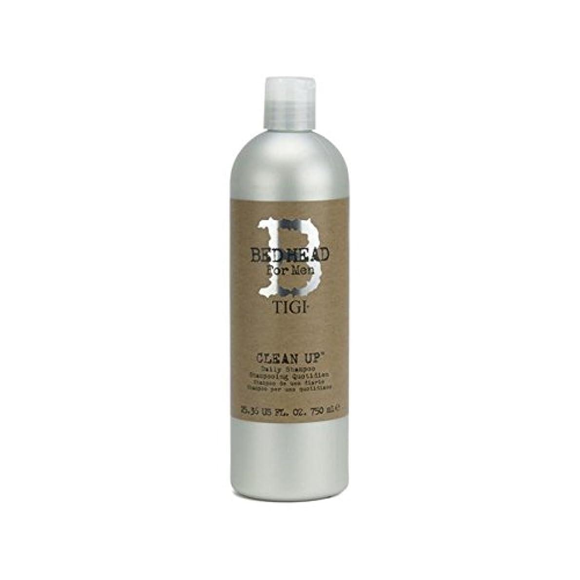に対して寛解ミトン毎日シャンプーをクリーンアップする男性のためのティジーベッドヘッド(750ミリリットル) x4 - Tigi Bed Head For Men Clean Up Daily Shampoo (750ml) (Pack of 4) [並行輸入品]