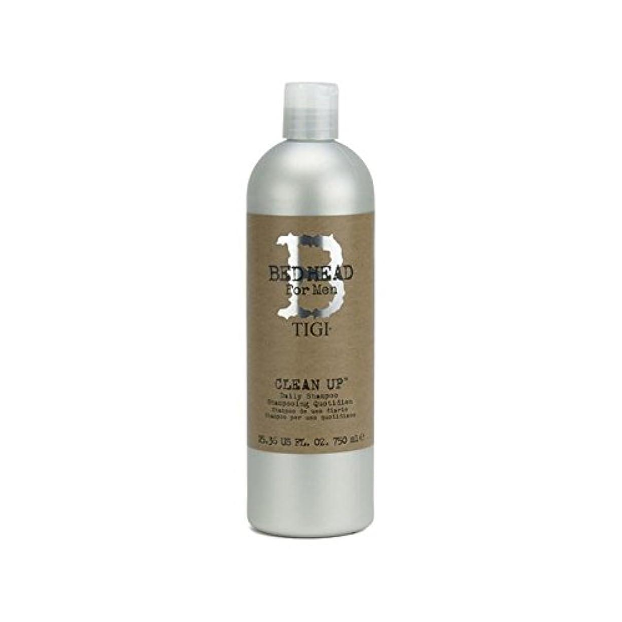 これまで実装する洪水毎日シャンプーをクリーンアップする男性のためのティジーベッドヘッド(750ミリリットル) x4 - Tigi Bed Head For Men Clean Up Daily Shampoo (750ml) (Pack of 4) [並行輸入品]