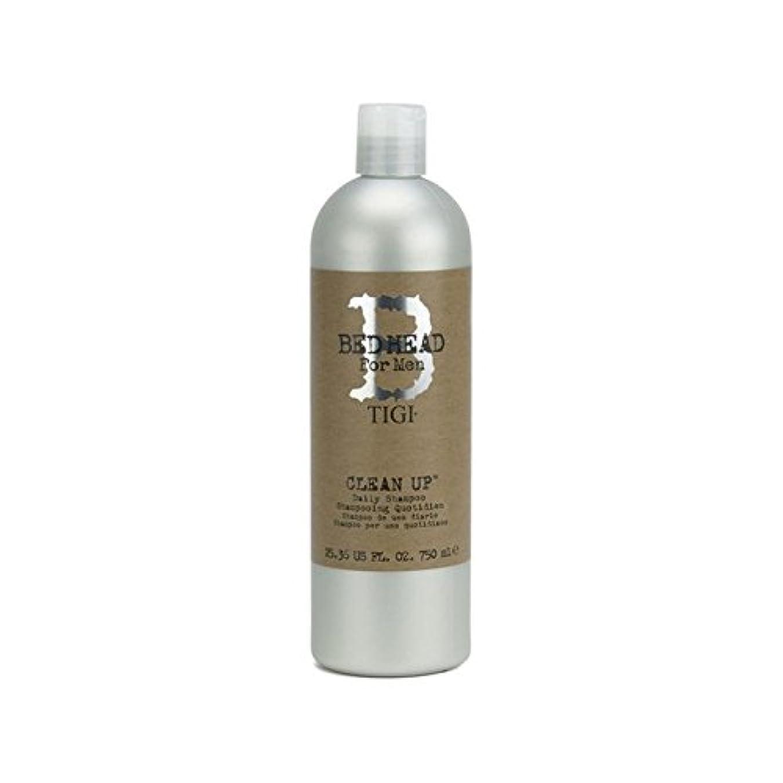 ドリル政府手毎日シャンプーをクリーンアップする男性のためのティジーベッドヘッド(750ミリリットル) x4 - Tigi Bed Head For Men Clean Up Daily Shampoo (750ml) (Pack of 4) [並行輸入品]