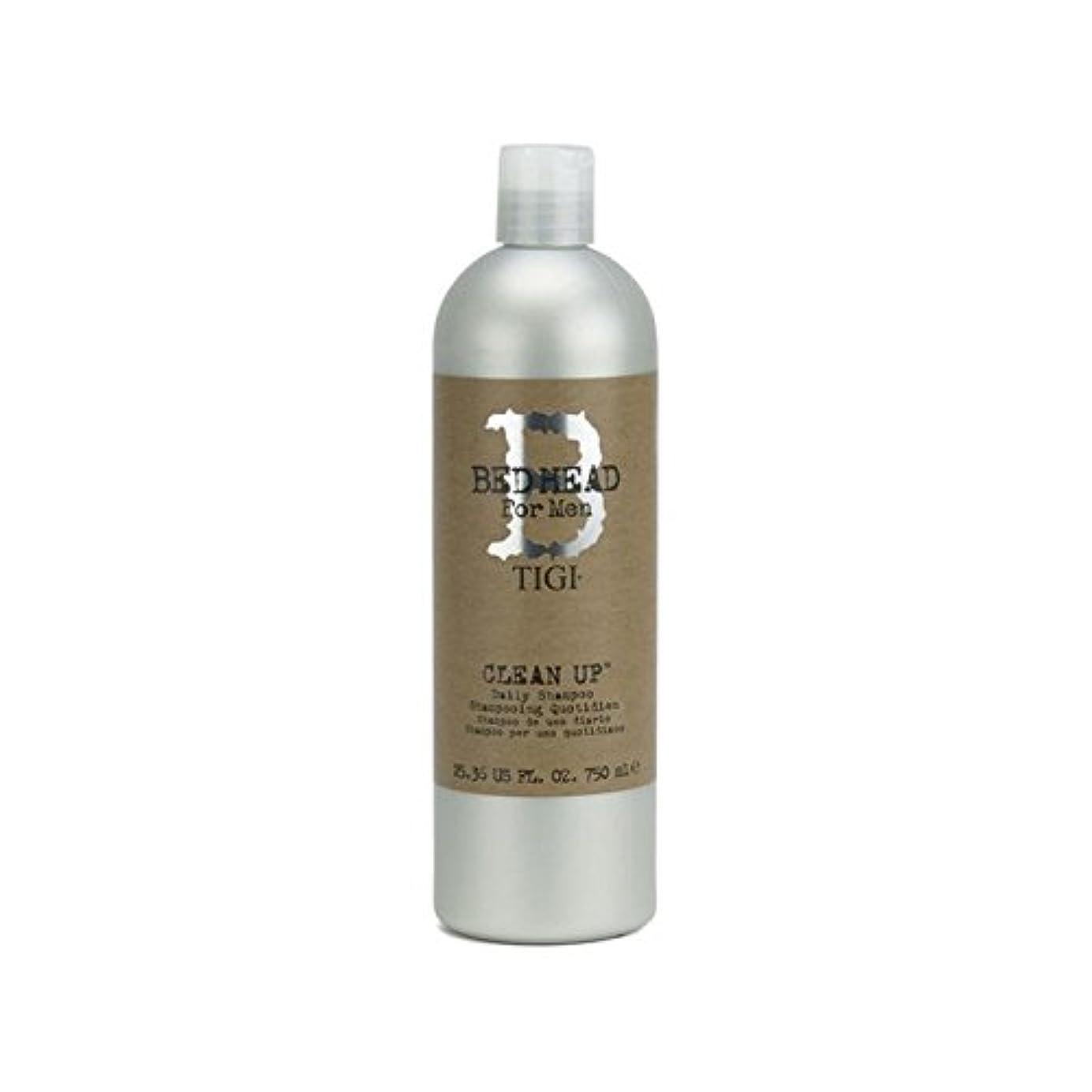 対人高潔な立ち向かう毎日シャンプーをクリーンアップする男性のためのティジーベッドヘッド(750ミリリットル) x4 - Tigi Bed Head For Men Clean Up Daily Shampoo (750ml) (Pack of 4) [並行輸入品]