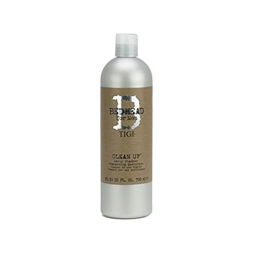 画面ふつうために毎日シャンプーをクリーンアップする男性のためのティジーベッドヘッド(750ミリリットル) x4 - Tigi Bed Head For Men Clean Up Daily Shampoo (750ml) (Pack of 4) [並行輸入品]
