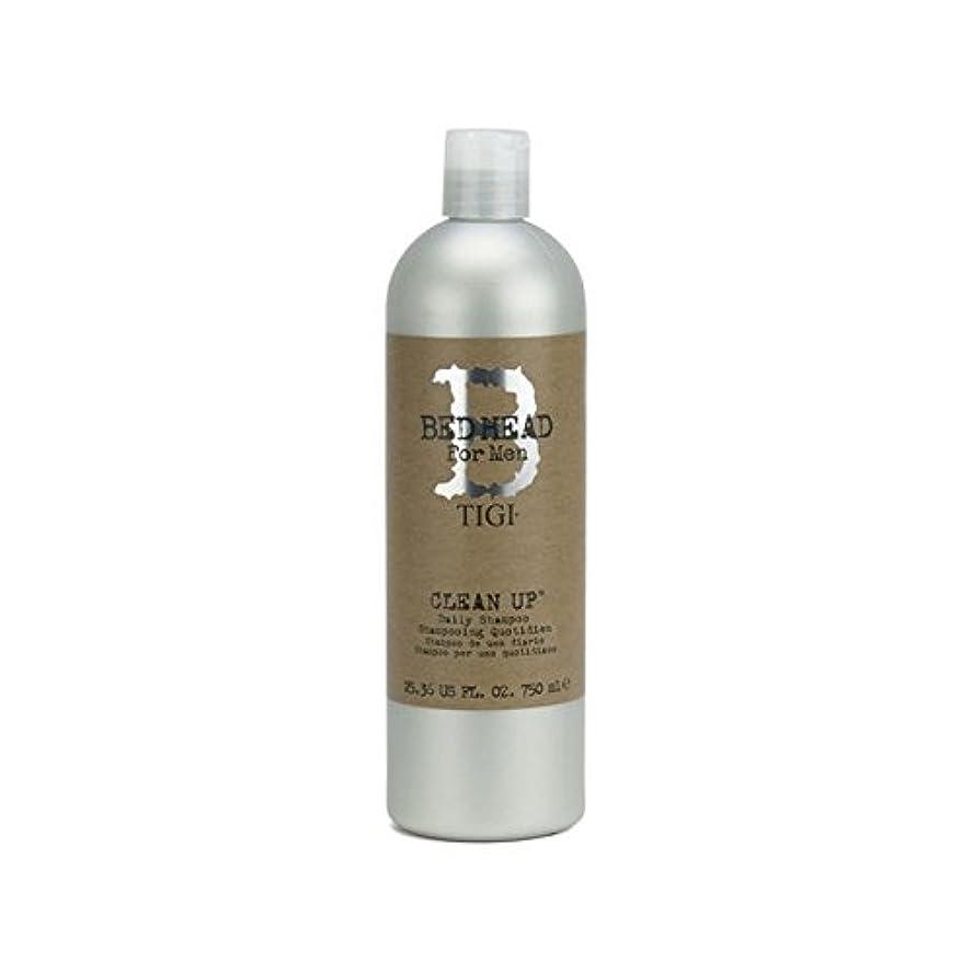 フォアマンハイジャックバルク毎日シャンプーをクリーンアップする男性のためのティジーベッドヘッド(750ミリリットル) x4 - Tigi Bed Head For Men Clean Up Daily Shampoo (750ml) (Pack of 4) [並行輸入品]