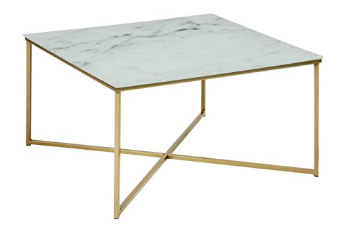 Amazon Brand - Movian Rom - Mesa de centro, 80 x 80 x 45 cm, blanco