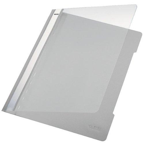 Leitz 41910085 Standard Hefter (A4, langes Beschriftungsfeld, PVC) grau