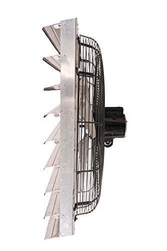 Fanpac S36 Wall-Mounted Single Speed Shutter Exhaust Fan, 36', Gray