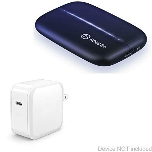 Elgato HD60 S+ Charger, BoxWave [PD miniCube (18W)] 18W PD Wall Charger for Elgato HD60 S+, S - Winter White