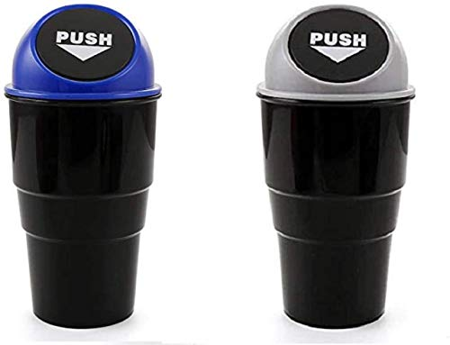 Sunshine Mini Car Trash Bin Can Holder Dustbin Combo Pack of 2 (Color May Be Assorted as Per The Availability)