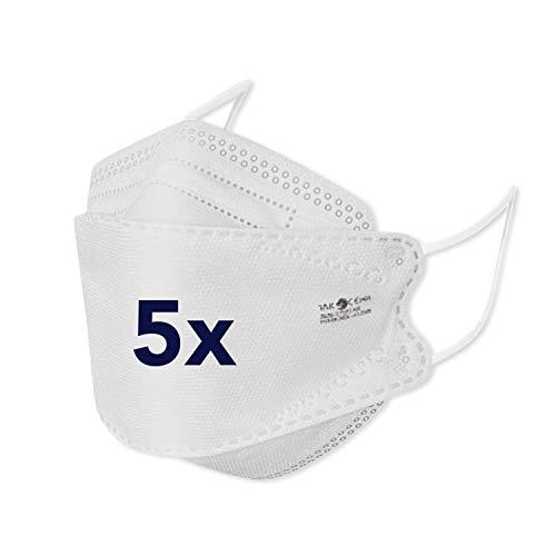 bamb FFP 2 Maske CE Zertifiziert | 5 Stück | CE 1463 (EN149:2001+A1:2009) | Einweg Mund und Nasenschutz FFP2 | Mundschutz