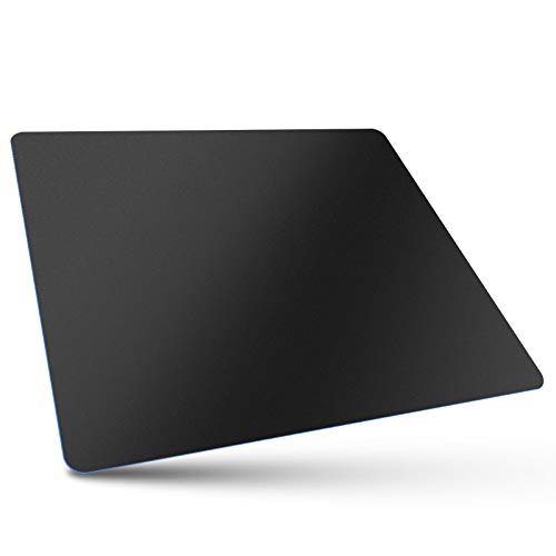 Bitechpro Gaming Mouse Pad,Large 14×11.6×0.06', ABS Plastic Smooth Surface,Ultra Thin,Soft, Non-Slip Backing,Washable, Healthy for Computer and Laptop,Black
