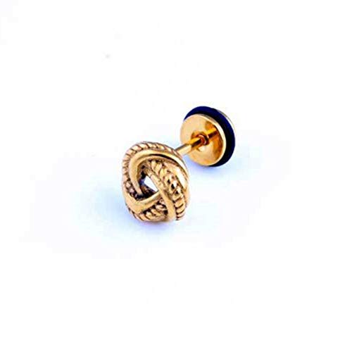 Pendientes Mujer Pendientes De Botón De Nudo De Moda Oro Negro Vintage Pendientes De Botón De Nudo Pequeño Joyería - Oro
