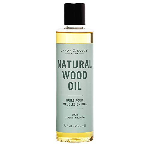 Caron & Doucet - Natural Wood Conditioning Oil - 100% Plant Based Wood Conditioning and Polishing Oil - Orange Scented - Suitable for Natural Wood Furniture. (8oz)