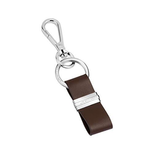 Morellato Portachiavi da uomo, Collezione Morellato Keyrings, in acciaio e cuoio - SU0630