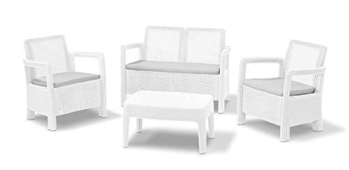 Keter Set Tarifa Lounge Conjunto de jardín, blanco