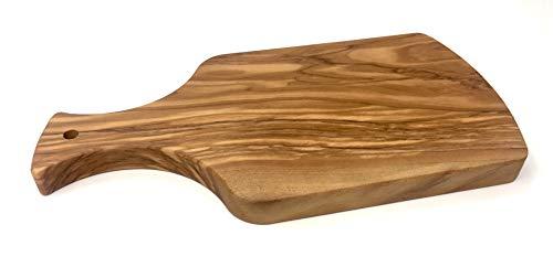 Tabla de cortar 28x14x2cm con mango hecho de madera de olivo hecho a mano en tabla de desayuno de tabla de cocina de Mallorca tabla de madera única