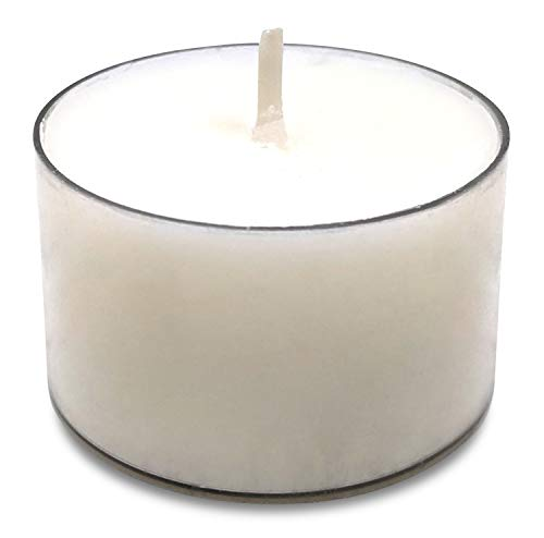 Hyoola Pure Tealight Candles - 100% Natural Candles Non Toxic - 7 Hour Vegan Tea Lights Candles in Clear Cup - 40 Pack