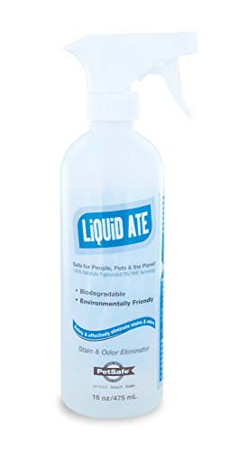 PetSafe Liquid-Ate Enzyme Cleaner - Pet Odor Eliminator for Home - Pet Urine Enzyme Cleaner, Pet Carpet Cleaner - Pet Stain Remover Carpet Cleaner Spray - Urine Destroyer Carpet Cleaner for Pets