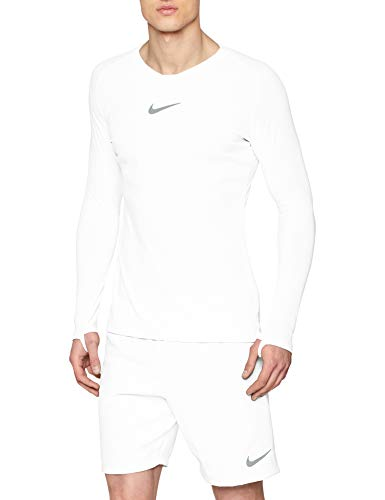 Nike Herren M NK Dry Park 1STLYR JSY LS Long Sleeved T-Shirt, White/(cool Grey), L