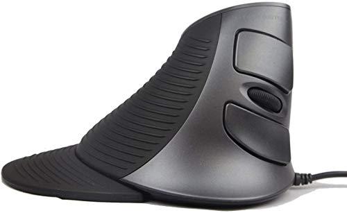 Mouse cablato Scroll Endurance, mouse USB verticale ergonomico JTD con sensibilità regolabile (600 1000 1600 DPI), poggiapolsi rimovibile e pulsanti per il pollice