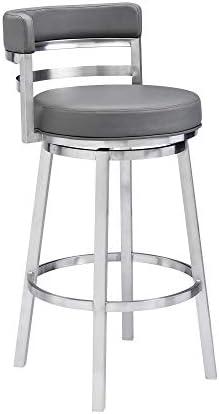 Madrid Bar Stool 30 Height Gray product image