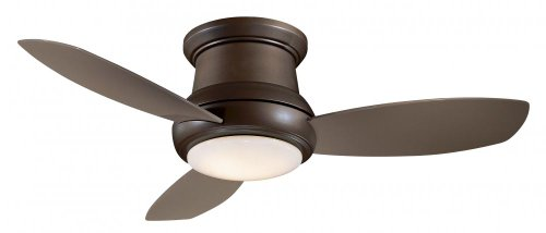 """Minka-Aire F474-ORB, Concept II, 52"""" Flush Mount Ceiling Fan with Light & Remote, Oil Rubbed Bronze"""
